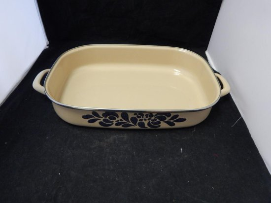 Pfaltzgraff Co Pottery, Lot of 5 Enamel Pots and Pan