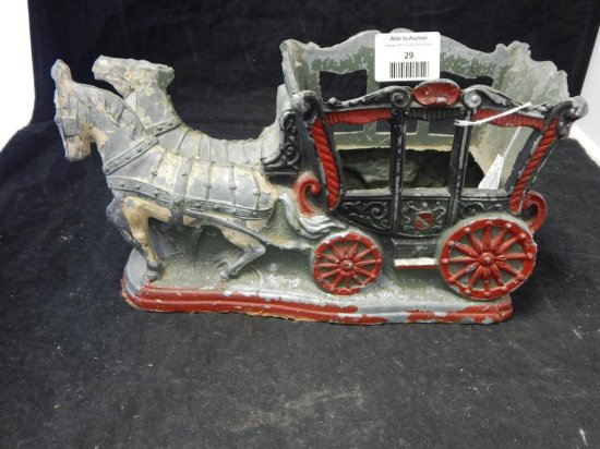 Vintage Palace Horses with Carriage