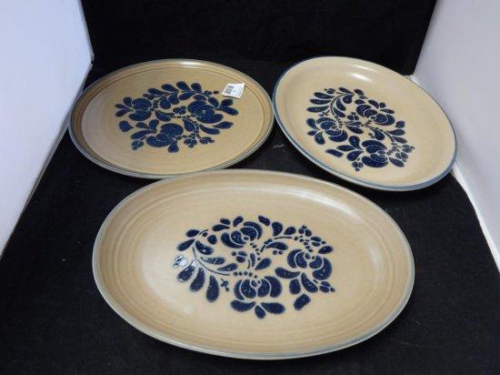 Pfaltzgraff Co Pottery, Lot of 3 Platters