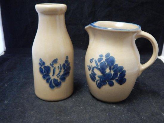 Pfaltzgraff Co Pottery Milk Jug and Pitcher