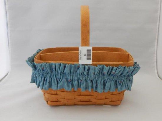 Longaberger retangular basket with dividers