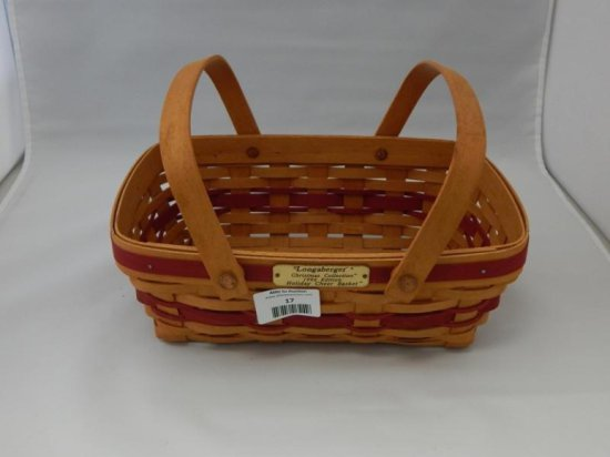 Longaberger christmas collection 1996 holiday cheer basket