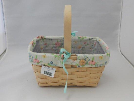Longaberger retangular basket with handle
