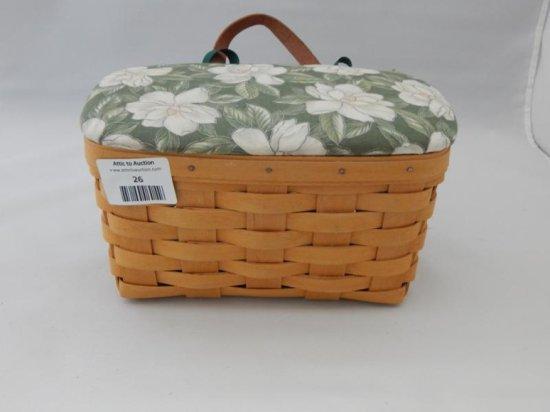 Longaberger medium key basket with lid