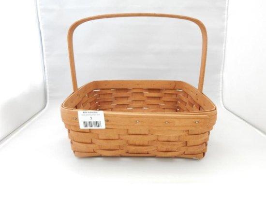 Longaberger square basket