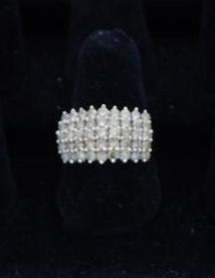 10 kt Gold brown diamond 2.0 carat weight size 8.5