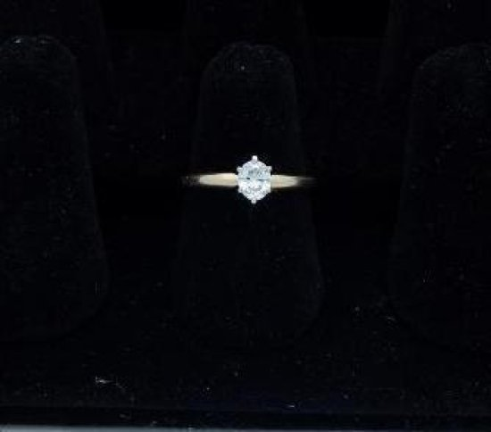 14kt gold diamond engagement solitaire ring 0.60-0.63 oval size 7.25