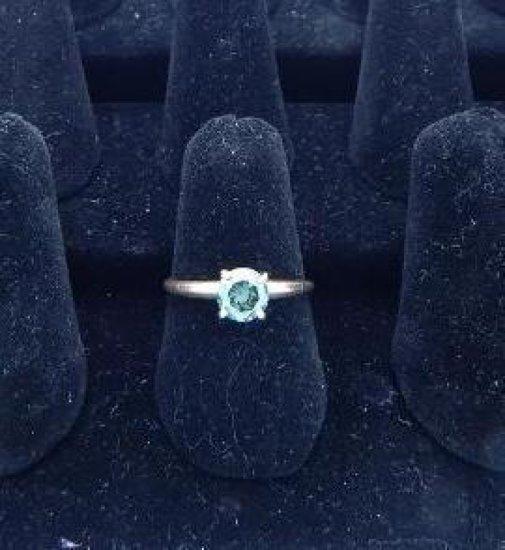14kt gold Blue 1.05 carat Diamond ring size 8.25