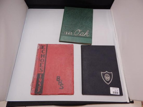 LOT OF 3 VINTAGE YEARBOOKS