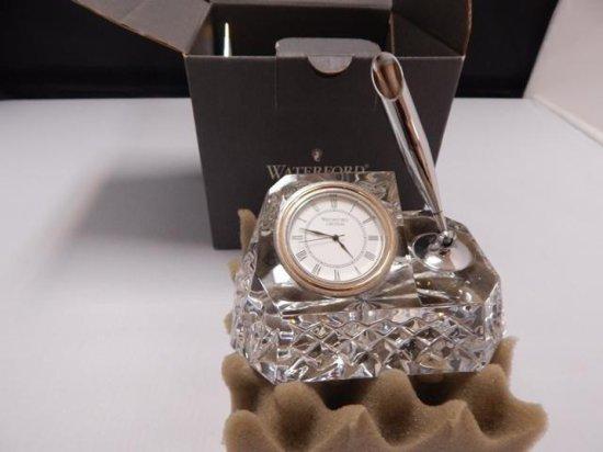 Waterford Crystal Westover Clock Pen Holder