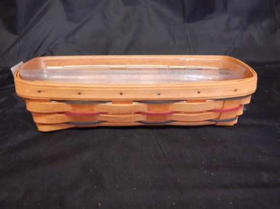 Longaberger 1993 Rectangle with 2 plastic liners