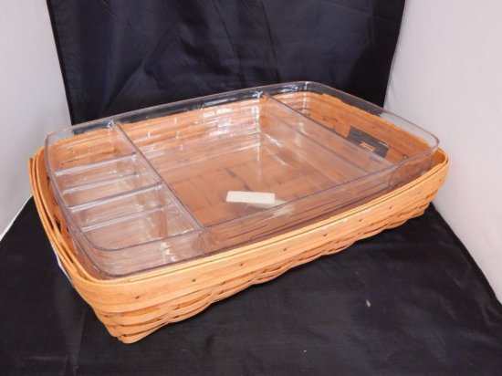 Longaberger Serving Tray, 1994, 3 Plastic Liners