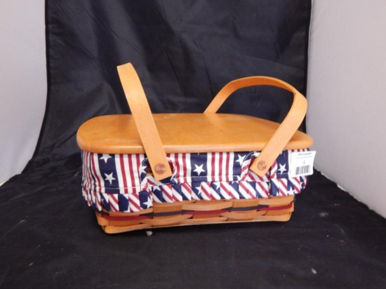 Longaberger 1998 All-American Pie Basket with Wooden Lid
