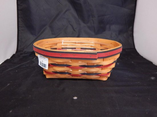 Longaberger 1999 All American Blue Ribbon Bread Basket with plastic liner
