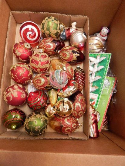 LOT of 2 large boxes of Christmas ornaments