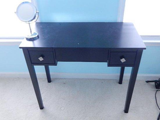 Black laminate desk