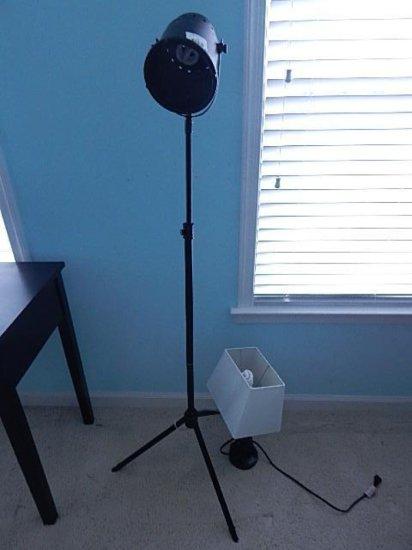 2 lamp lot: floor & desk lamp