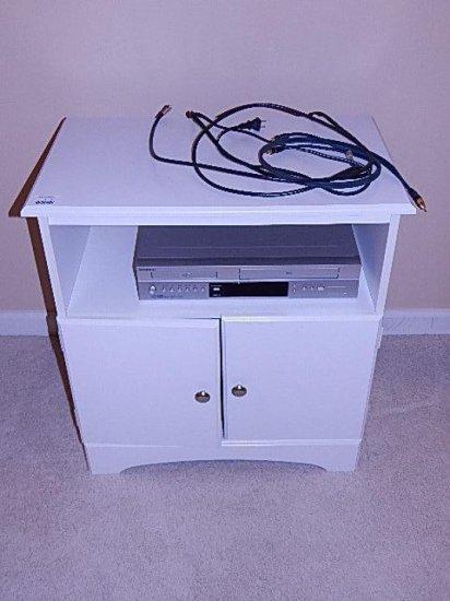 Small media cabinet & Goldstar DVD/VHS