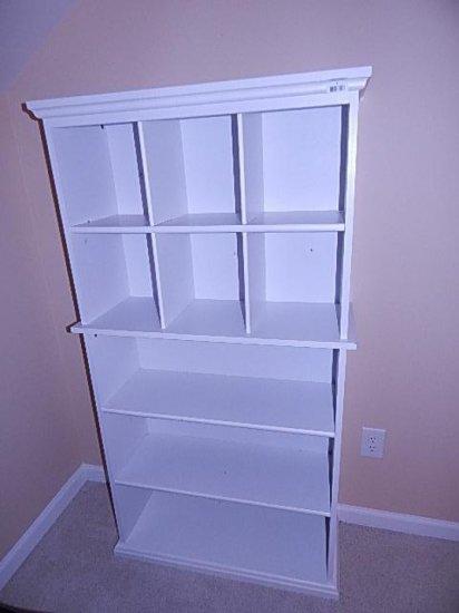 White Wooden/laminate bookshelf