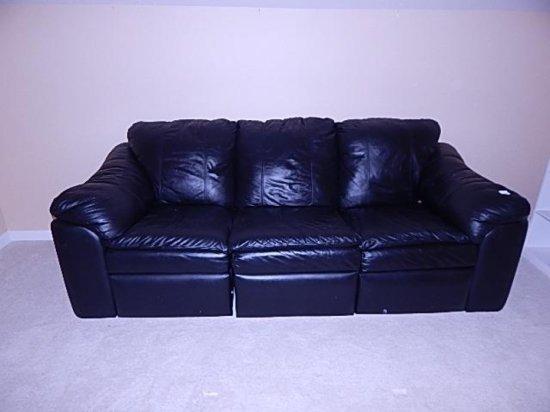 Black leather Sofa Robinson & Robinson