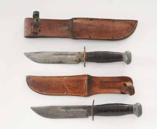 Lot of 2 WWII U.S. PAL #36 Mil. Style Knives