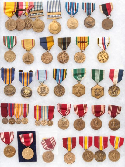 Lot of 39 U.S. Military Medals, WWII & Post-War