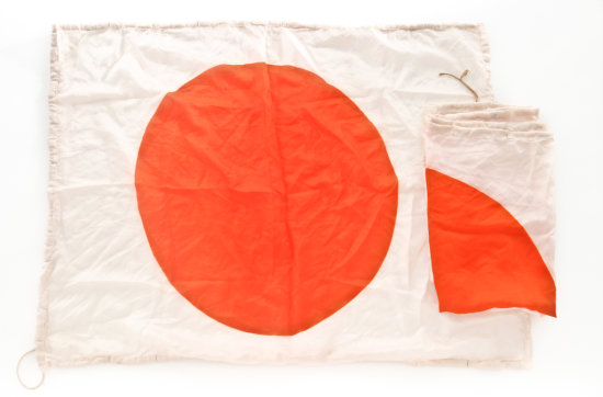 Pair of WWII Japanese Flotation Flags