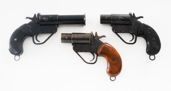 Lot of Three (3) No. 2 MK. 5 British Flare Pistols