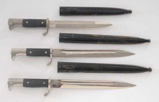 Lot of Three (3) WWII German Dress Bayonets