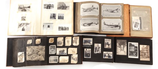 Lot of 5 WWI/WWII U.S. Mil. Scrapbookss/Albums
