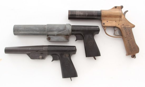 Lot of 3 Mid-20th C. American Flare Guns