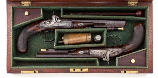 Pr. Perc. Dueling Type Pistols, by C. Moore