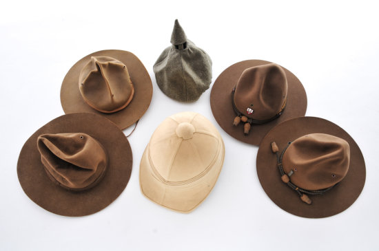 Lot of 20th Century Campaign Hats