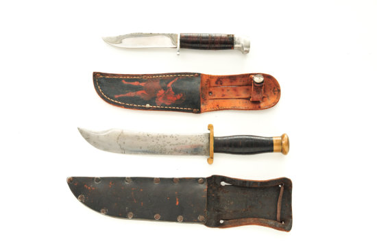Lot of Two (2) WWII Style US Fighting Knives