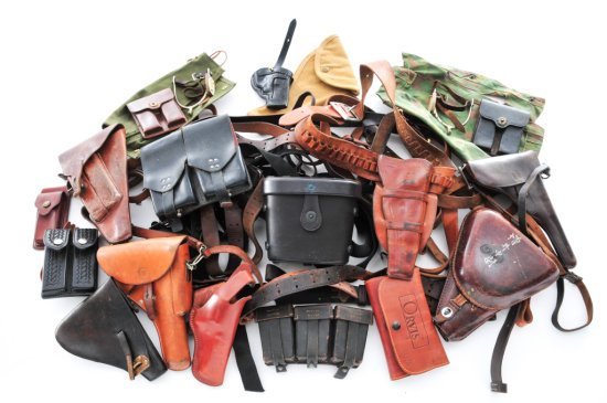 Misc. Lot of Mid-20th C. Leather