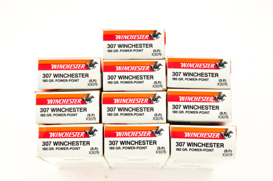Lot of 10 Boxes of Win. Super-X .307 Win.