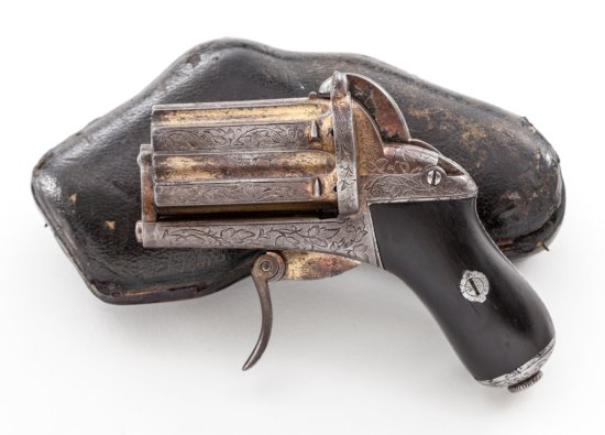 Antique Gold-Plated Continental ''Fist'' Pistol
