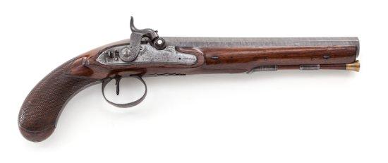 Fine English Single Shot Perc. Pistol, by I. Field