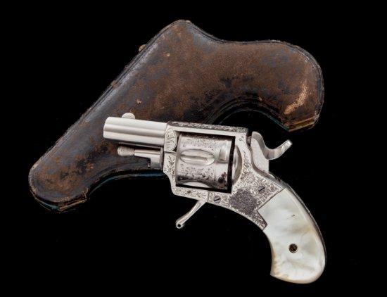 Antique Floral Spray Eng'd Bel. DA Revolver