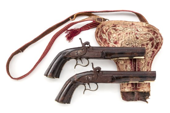 Pr. Continental Turkish/Ottoman Saddle Pistols