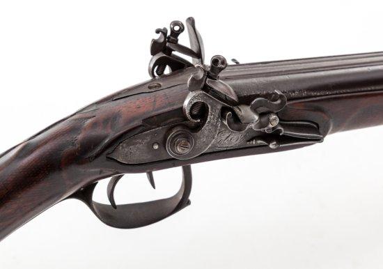 French Flintlock Side-by-Side Shotgun
