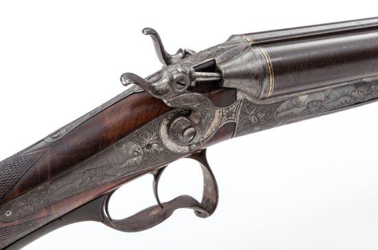 Unique SxS Underlever Hammer Shotgun