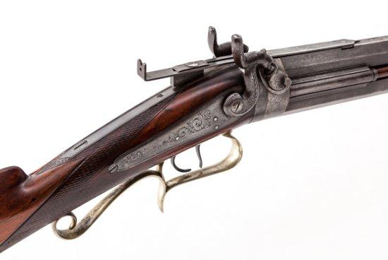 O/U Perc. Combination Gun, by W&C. Ogden, New York