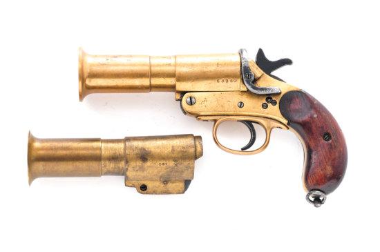 British No. 1 MK III Flare Pistol with Ex. Barrel
