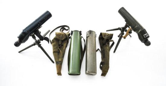 Lot of 2 Military (M49) 20X Spotting Scopes