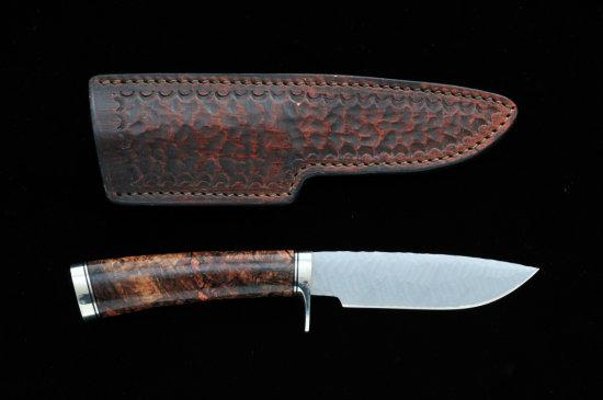 Custom Fixed Blade Knife, by Bill Cheatham