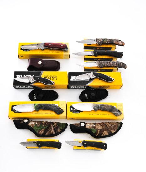 Lot of 10 New Buck Knives