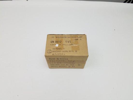 500-Round Case of Russian Mfg'd 7.62x54R