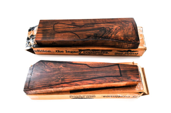 Lot of Two (2) Wood Stock Blanks