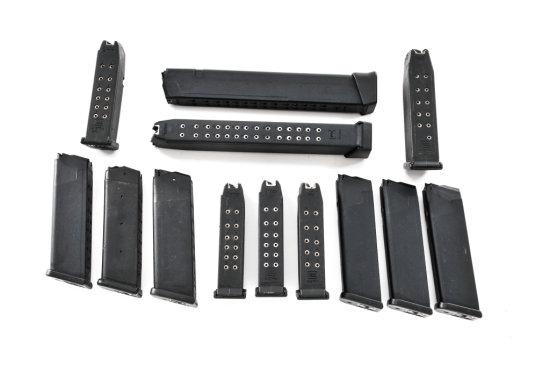 Lot of 13 High-Cap Factory Glock Magazines
